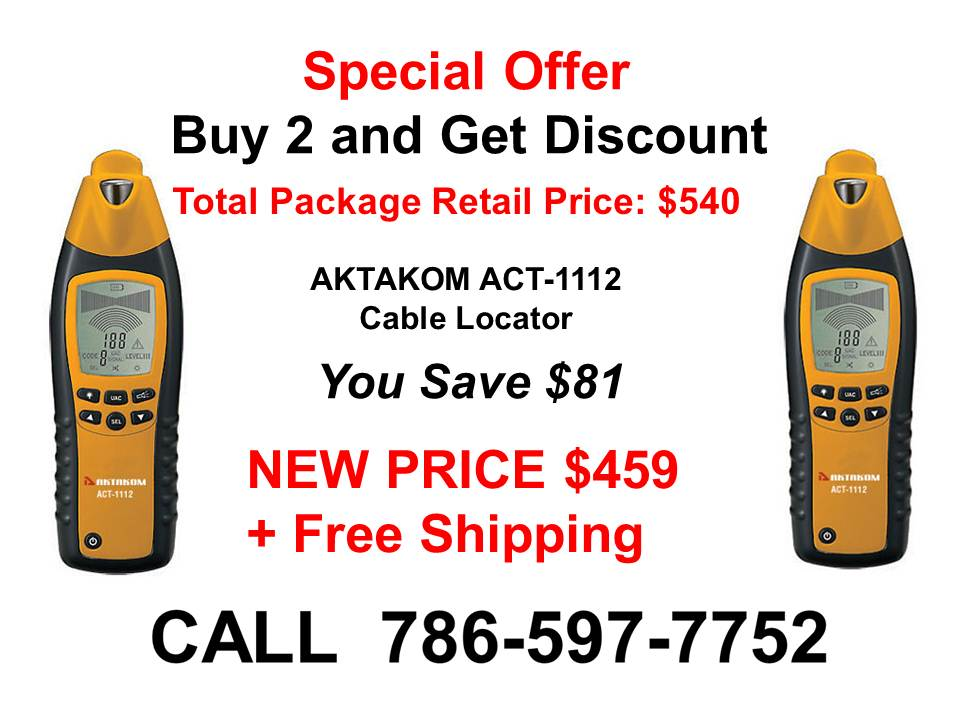 AKTAKOM ACT-1112 Cable Locator - Special Offer