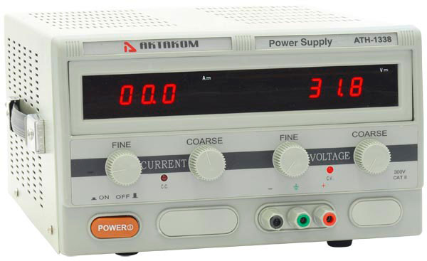 AKTAKOM ATH-1338 DC Power Supply 30V / 20A; 1 channel