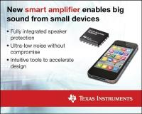 Best-in-class amplifier with integrated speaker protection is supported by a new software suite to accelerate development