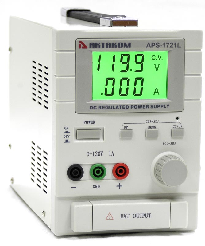 AKTAKOM APS-1721LS DC Power Supply 120V / 1A 1 Channel