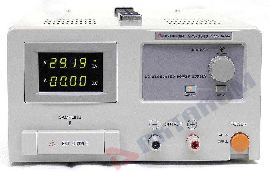 AKTAKOM APS-3310 DC Power Supply 30V / 10A, 1 Channel - front panel
