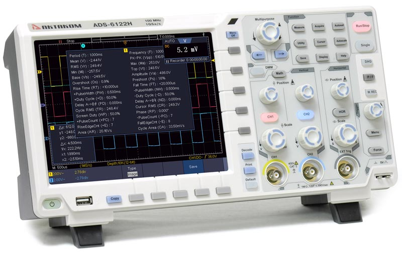 AKTAKOM ADS-6122H-VGA-DMM-DEC Digital Storage Oscilloscope 100MHz 1GSa/s