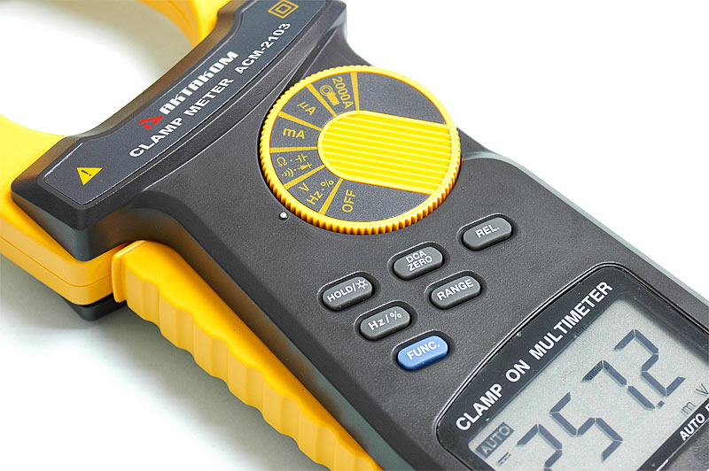 AKTAKOM ACM-2103 2000 A AC/DC Clamp Meter. True RMS + Multimeter + Direct current input (mA, µA) - buttons