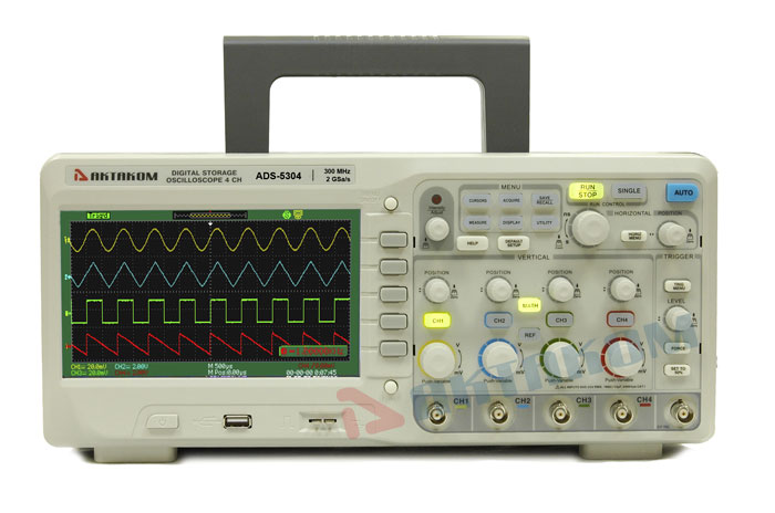 AKTAKOM ADS-5304 Digital Storage Oscilloscope 300MHz 2GSa/s