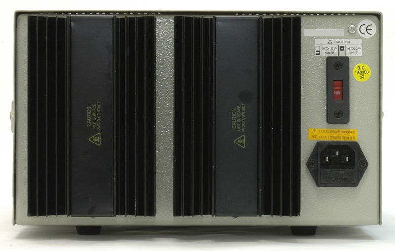 AKTAKOM ATH-3333 DC Power Supply 2 x 30V; 2 x 3A; 5V/3A; 3 channel - Rear view