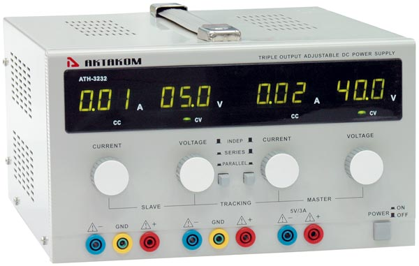 AKTAKOM ATH-3232 DC Power Supply 30V / 5A 3 Channels