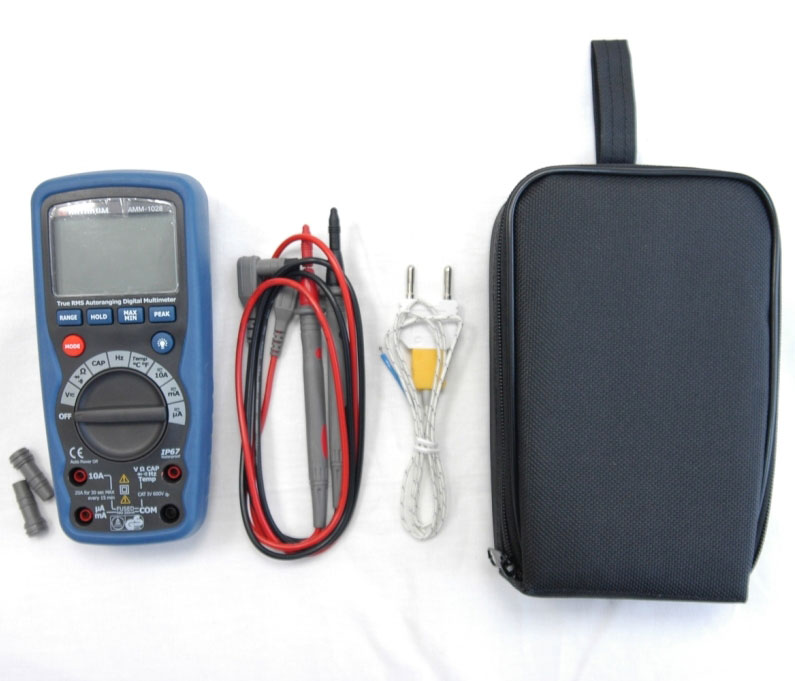 AKTAKOM AMM-1028 Professional Industrial Digital Multimeter - With accessories