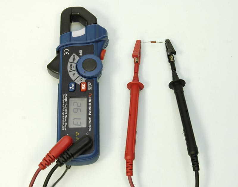 AKTAKOM ACM-2036 AC/DC True RMS Clamp Meter - Resistance measurement