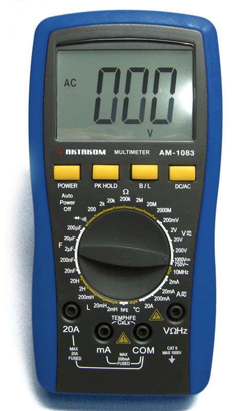 AKTAKOM AM-1083 Digital Multimeter - front view