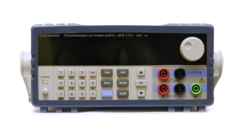 AKTAKOM APS-7151 DC Remote Controlled Power Supply 150V / 1A 1 Channel programmable - front panel