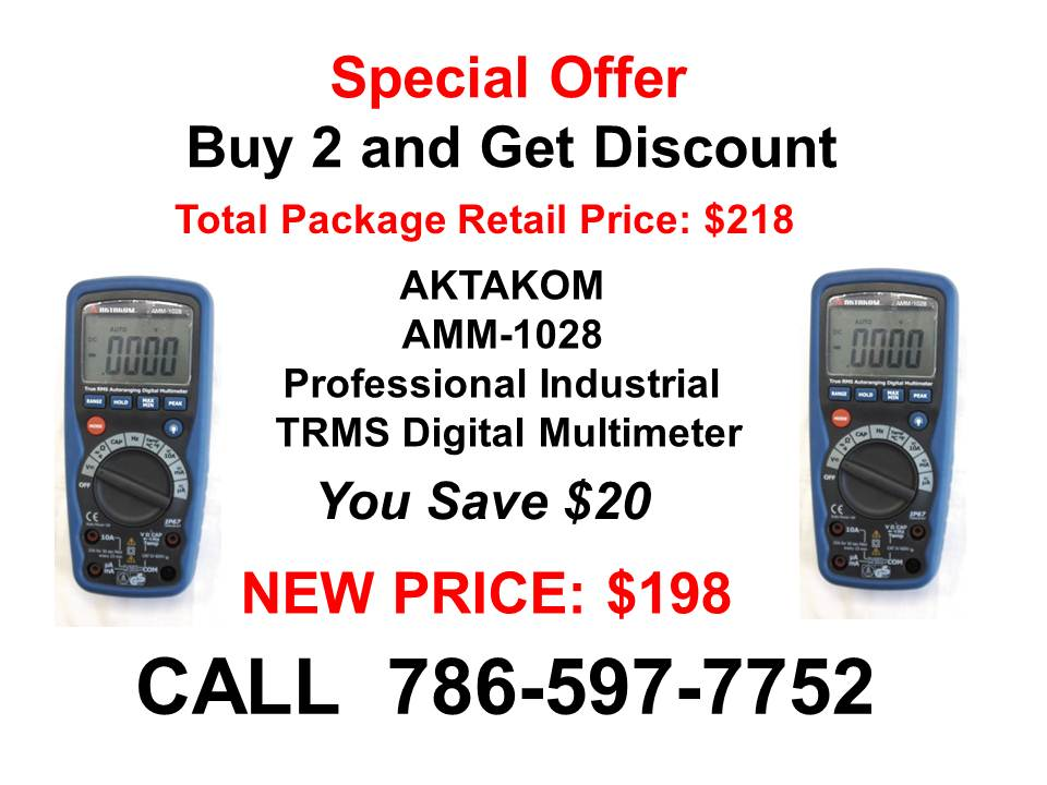 AKTAKOM AMM-1028 Professional Industrial Digital Multimeter - Special Offer