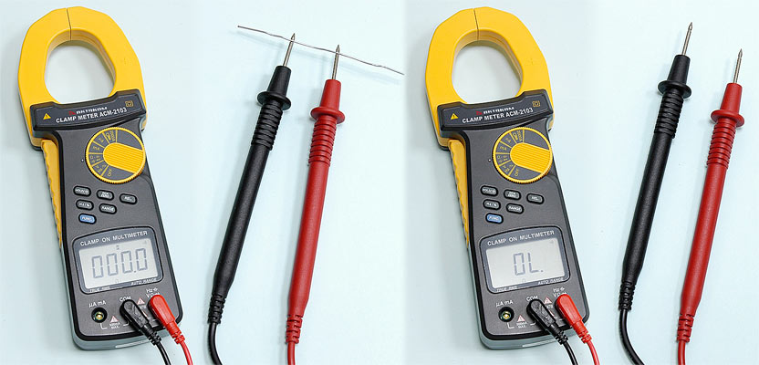 AKTAKOM ACM-2103 2000 A AC/DC Clamp Meter. True RMS + Multimeter + Direct current input (mA, µA) - Continuity Check