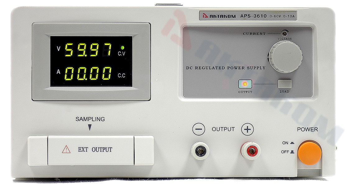 AKTAKOM APS-3610 DC Power Supply 60 V / 10 A, 1 Channel - Front panel