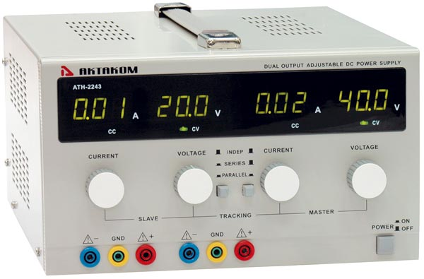 AKTAKOM ATH-2243 DC Power Supply 40V / 3A 2 Channels
