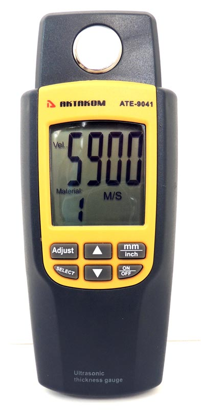 AKTAKOM ATE-9041 Ultrasonic Thickness Tester - Front view