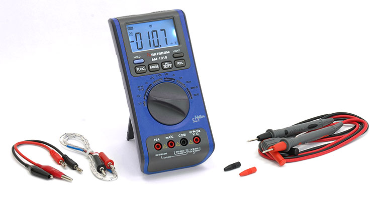 AKTAKOM AM-1019 Digital Multimeter with Environment Measurements - with accessories
