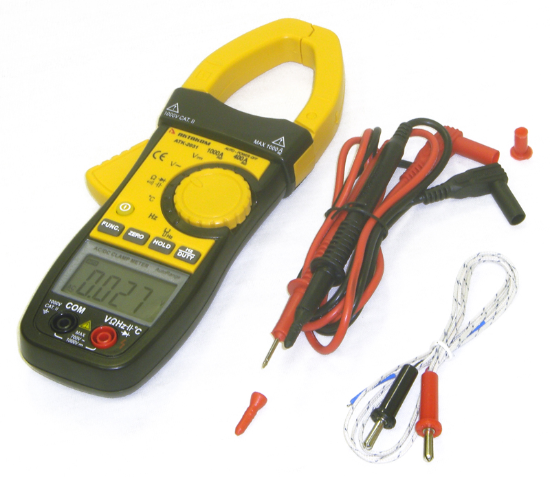 AKTAKOM ACM-2031 1000 A AC/DC Multipurpose Clamp Meter & Multimeter - with accessories