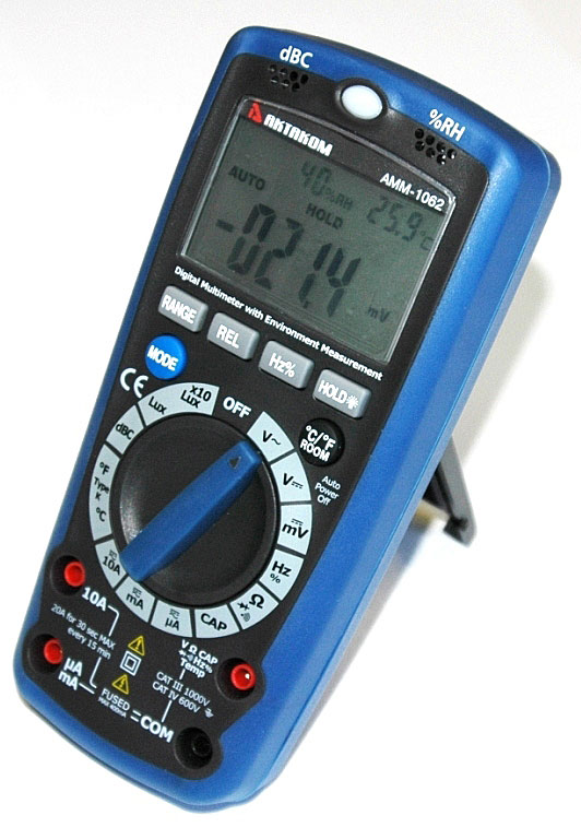 AKTAKOM AMM-1062 Professional Digital Multimeter with Environment Measurements - Right side view