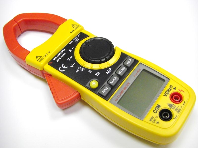 AKTAKOM ATK-2035 Clamp Meter - Left side