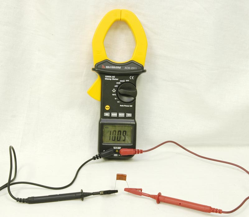 AKTAKOM ACM-2311 1000A AC Clamp Meter - Capacity test