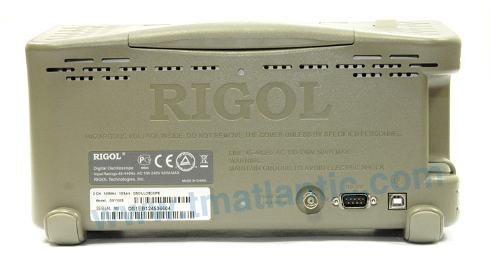 RIGOL DS1102E Digital Oscilloscope - Rear view