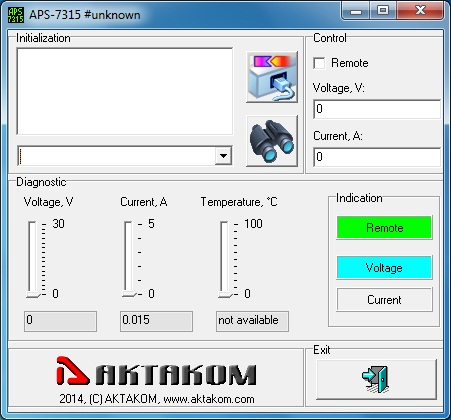 AKTAKOM APS-7315_SDK Software Development Kit - application example