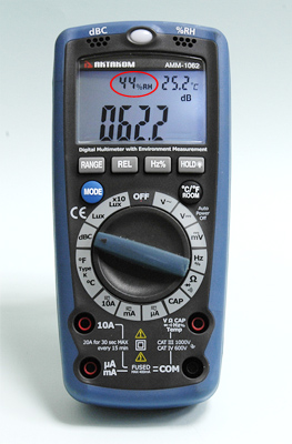 AKTAKOM AMM-1062 Professional Digital Multimeter with Environment Measurements - Measuring Humidity