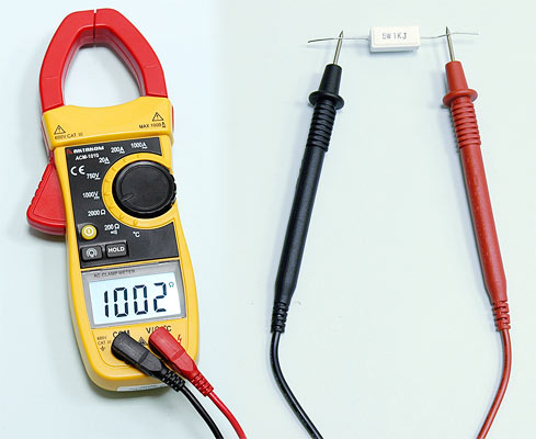 AKTAKOM ACM-1010 1000 A AC Clamp Meter & Thermometer (K-type) - Resistance Measurement