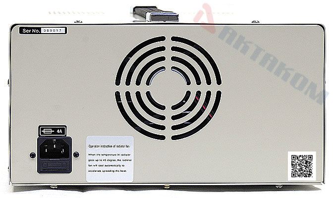 AKTAKOM APS-3605 DC Power Supply 300W 60V / 5A - rear view