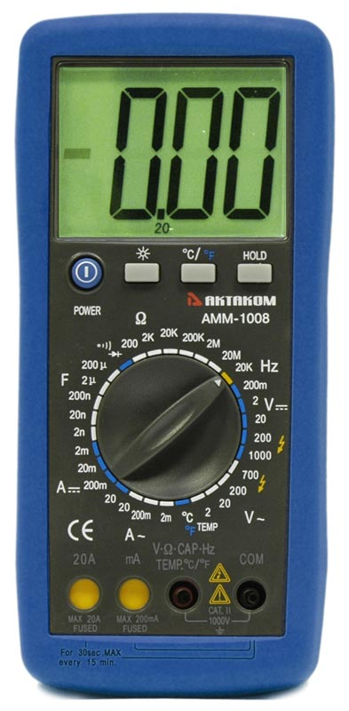 AKTAKOM AMM-1008 General Purpose 20 A Digital Multimeter