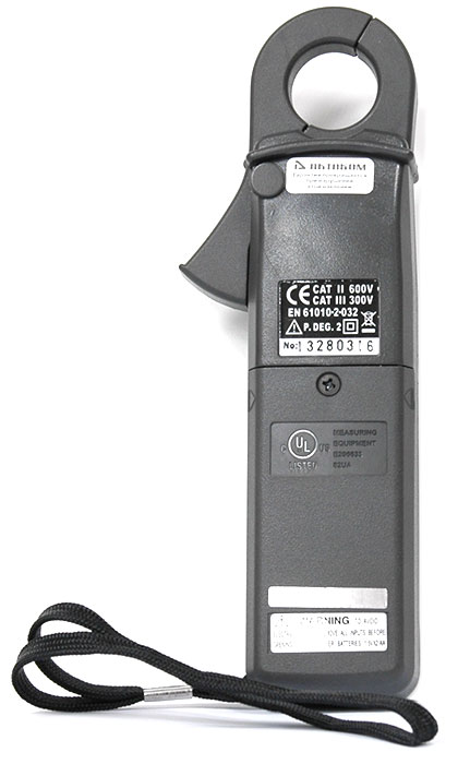 AKTAKOM ATK-2001 Clamp Meter - Rear view