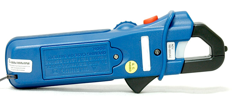 AKTAKOM ACM-2036 AC/DC True RMS Clamp Meter - back