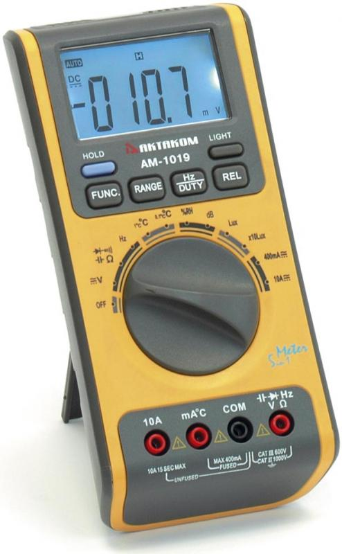 AKTAKOM AM-1019 Autorange Digital Multimeter with Environment Measurements (Open Box)
