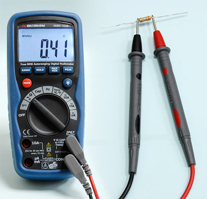 AKTAKOM AMM-1028 Professional Industrial Digital Multimeter - Resistance measurement