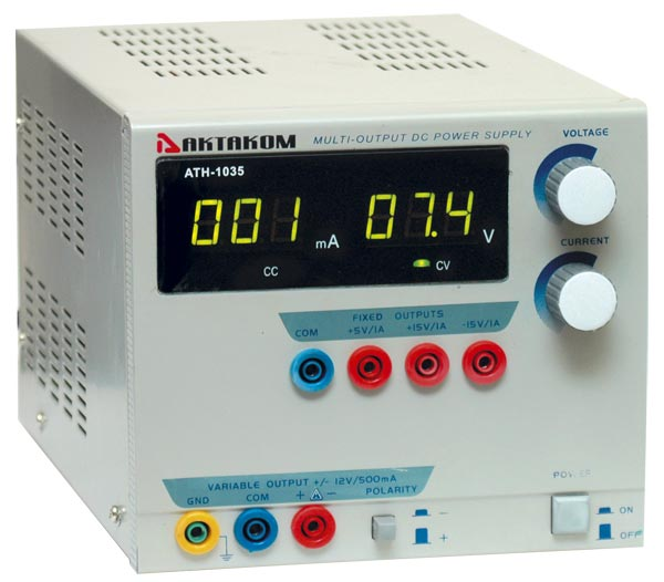AKTAKOM ATH-1035 DC Power Supply 12V / 500mA 1 Channel