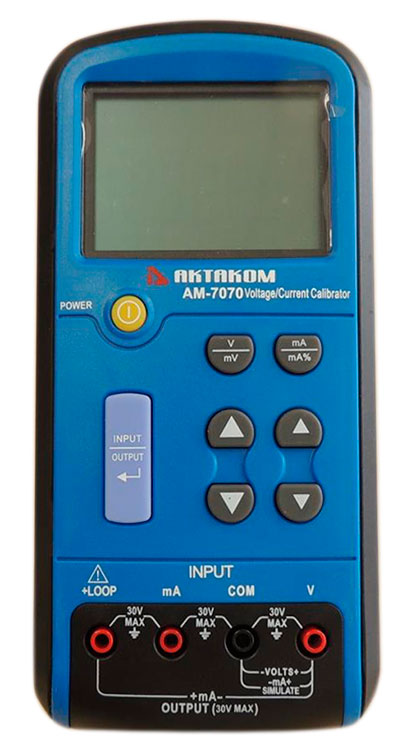 AKTAKOM AM-7070 Voltage and Current Calibrator - face view