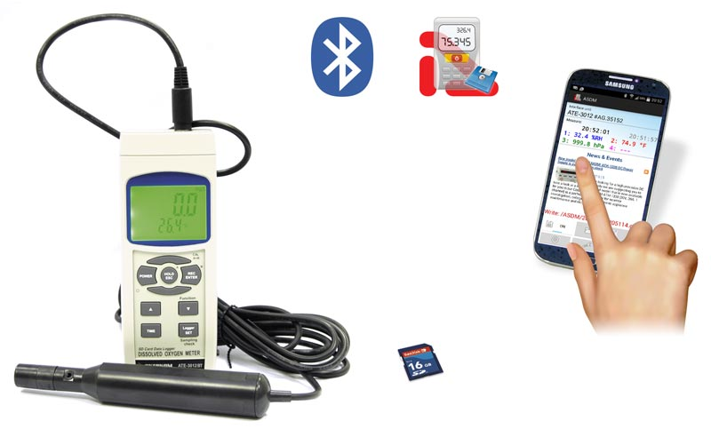 AKTAKOM ATE-3012BT Oxygen Meter with Bluetooth interface - aquire measured data on a mobile device
