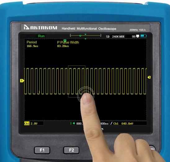 AKTAKOM ADS-4222 Handheld Digital Oscilloscope 200MHz 1GSa/s - touch screen