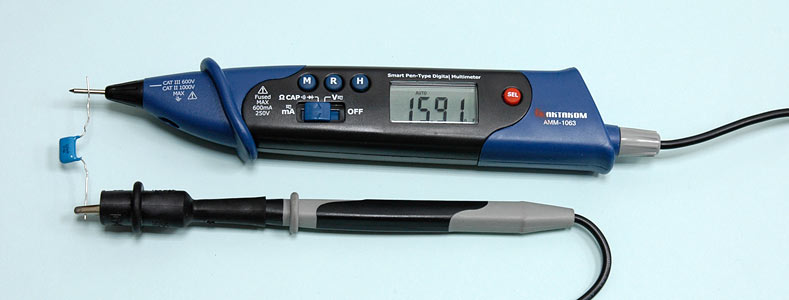 AKTAKOM AMM-1063 Smart Pen-type Digital Multimeter for IT - Capacitance Measurements