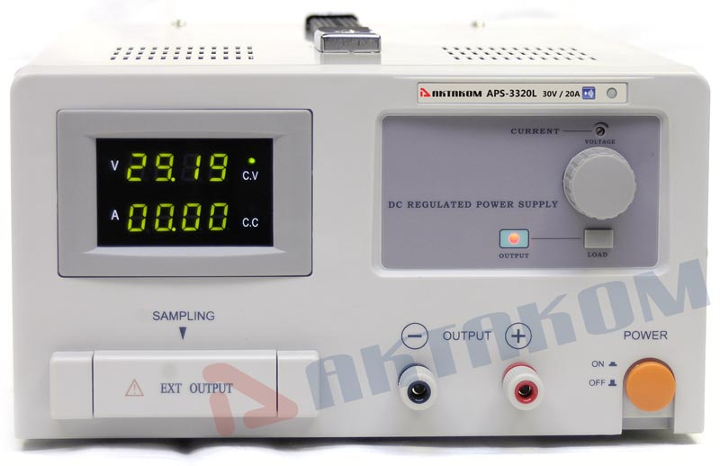 AKTAKOM APS-3320L DC Power Supply Remote Controlled 600W 30V / 20A 1 Channel programmable - front view