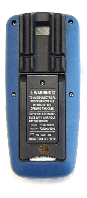 AKTAKOM AMM-1028 Professional Industrial Digital Multimeter - Rear view