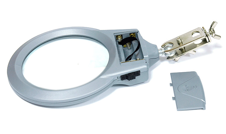 AKTAKOM ASE-6030L PCB holder with a LED lighted magnifier