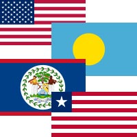 What do United States, Palau, Belize and Liberia have in common?