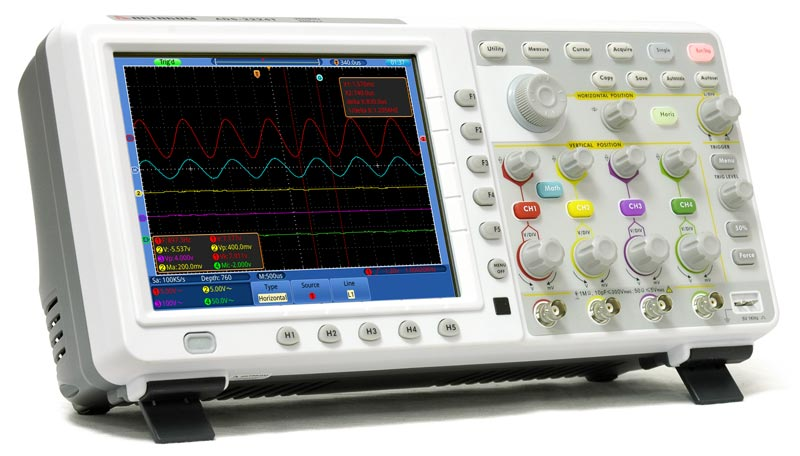 AKTAKOM ADS-2124T Touch Screen Digital Storage Oscilloscope 100MHz 2GS/s