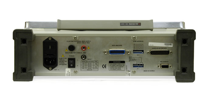 AKTAKOM AM-3001 Digital LCR Meter - rear view