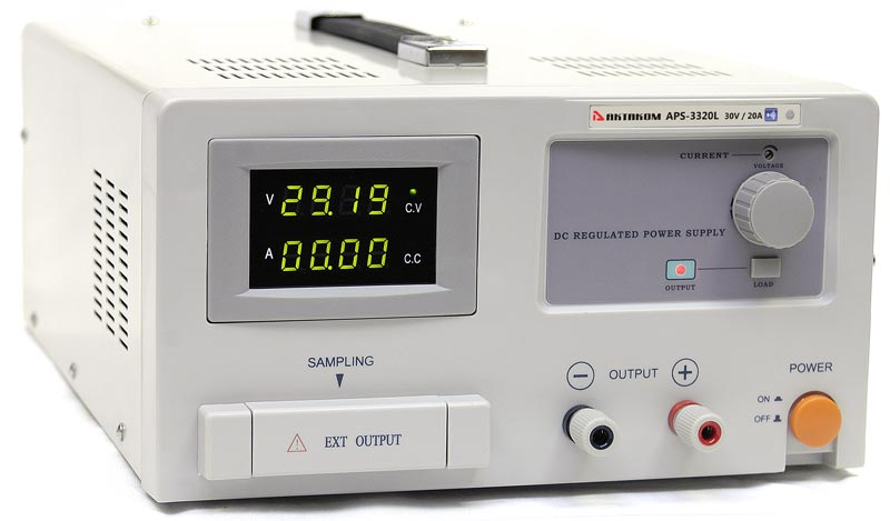 AKTAKOM APS-3320L DC Power Supply Remote Controlled 600W 30V / 20A 1 Channel programmable