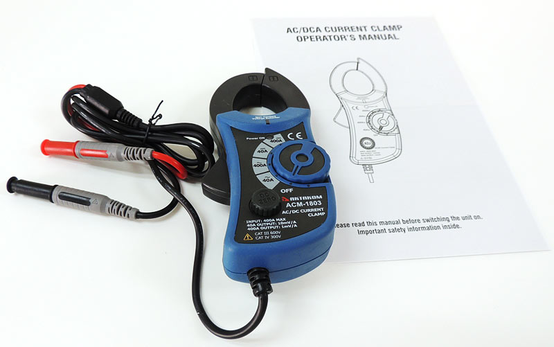 AKTAKOM ACM-1803 AC/DC Current Clamp Meter - with accessories