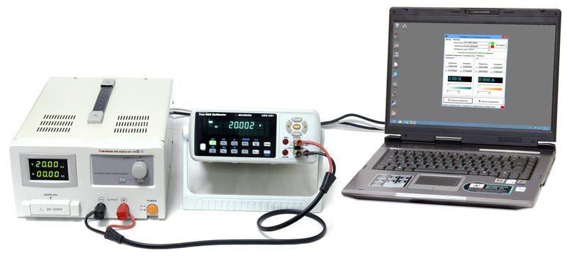 AKTAKOM APS Calibration - Calibrating AKTAKOM power supply
