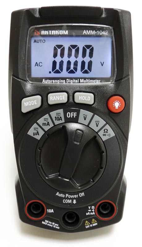 AKTAKOM AMM-1042 Digital Multimeter - Front panel