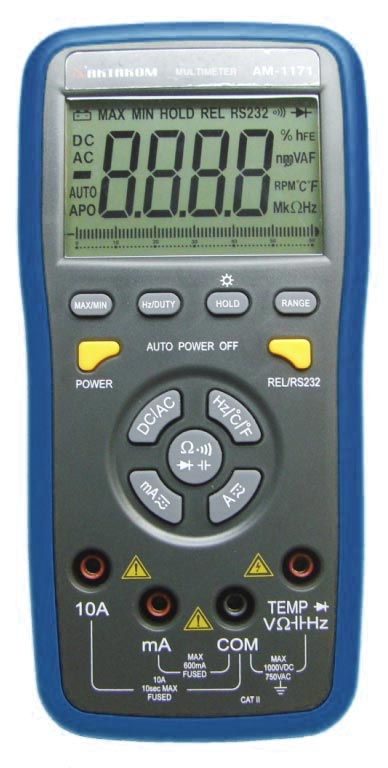 AKTAKOM AM-1171 Digital Push-Button Control Multimeter - front view